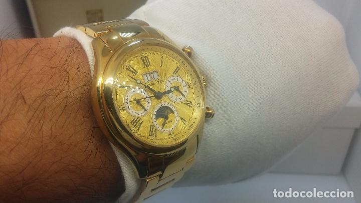 Relojes automáticos: Reloj automatico de caballero Astronomy de Lancoste, seminuevo, dos puestas - Foto 30 - 101950579