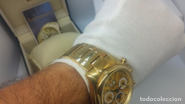Relojes automáticos: Reloj automatico de caballero Astronomy de Lancoste, seminuevo, dos puestas - Foto 32 - 101950579