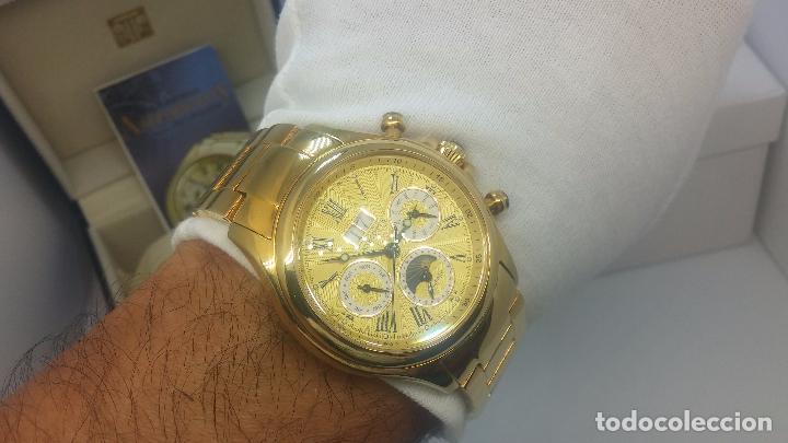 Relojes automáticos: Reloj automatico de caballero Astronomy de Lancoste, seminuevo, dos puestas - Foto 33 - 101950579