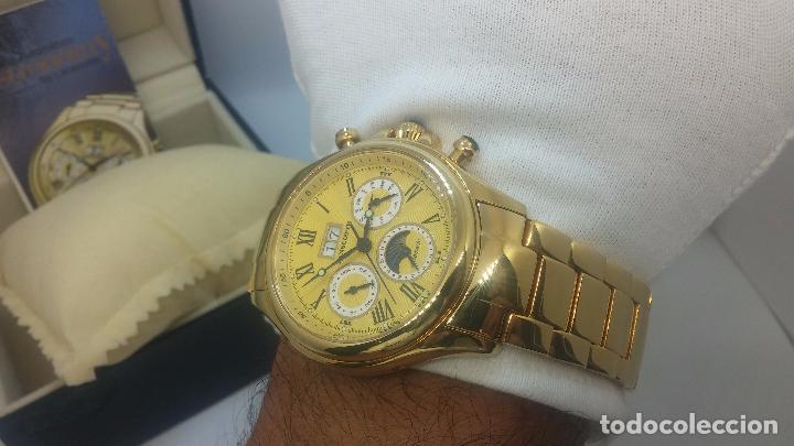 Relojes automáticos: Reloj automatico de caballero Astronomy de Lancoste, seminuevo, dos puestas - Foto 34 - 101950579