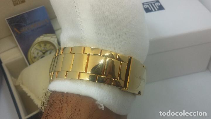 Relojes automáticos: Reloj automatico de caballero Astronomy de Lancoste, seminuevo, dos puestas - Foto 36 - 101950579
