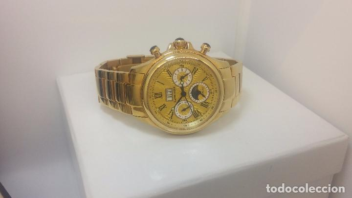 Relojes automáticos: Reloj automatico de caballero Astronomy de Lancoste, seminuevo, dos puestas - Foto 44 - 101950579