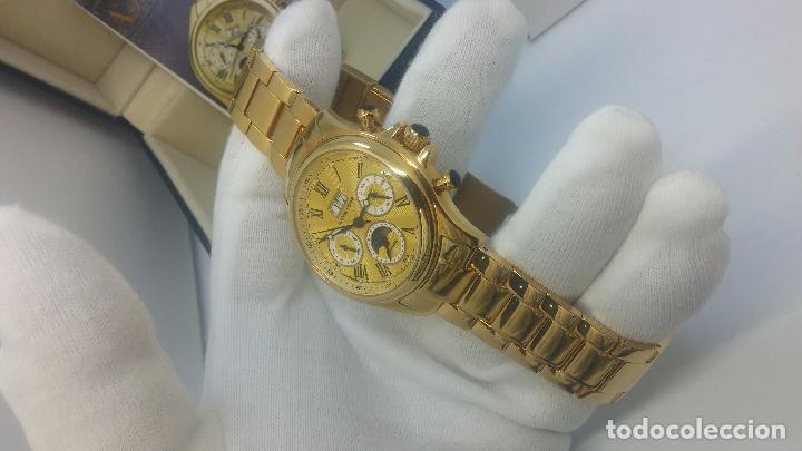 Relojes automáticos: Reloj automatico de caballero Astronomy de Lancoste, seminuevo, dos puestas - Foto 47 - 101950579