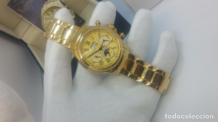 Relojes automáticos: Reloj automatico de caballero Astronomy de Lancoste, seminuevo, dos puestas - Foto 48 - 101950579