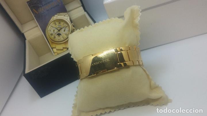 Relojes automáticos: Reloj automatico de caballero Astronomy de Lancoste, seminuevo, dos puestas - Foto 68 - 101950579
