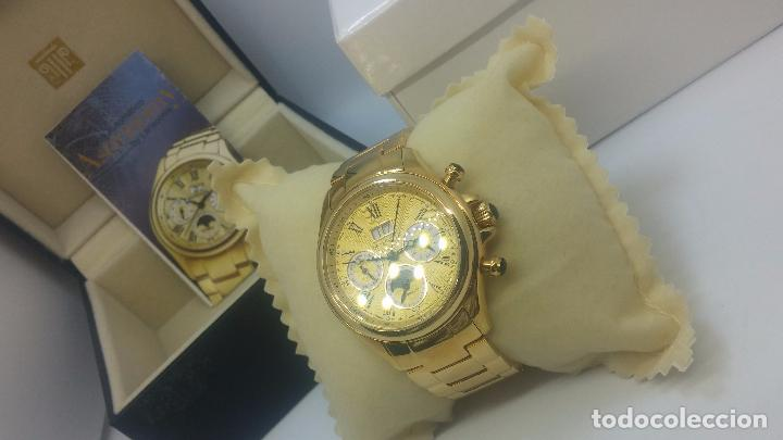 Relojes automáticos: Reloj automatico de caballero Astronomy de Lancoste, seminuevo, dos puestas - Foto 70 - 101950579