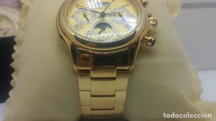 Relojes automáticos: Reloj automatico de caballero Astronomy de Lancoste, seminuevo, dos puestas - Foto 72 - 101950579