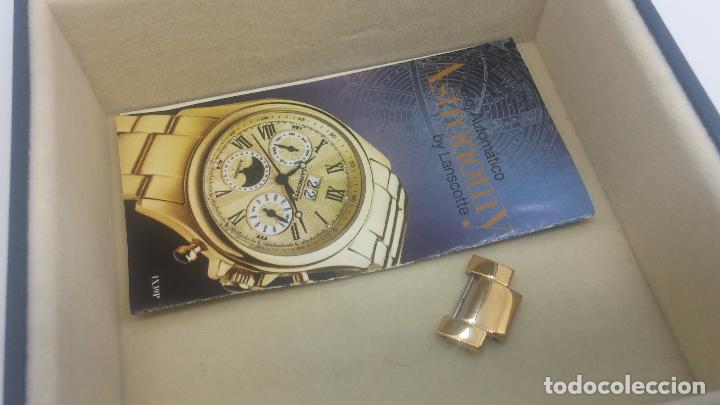 Relojes automáticos: Reloj automatico de caballero Astronomy de Lancoste, seminuevo, dos puestas - Foto 77 - 101950579