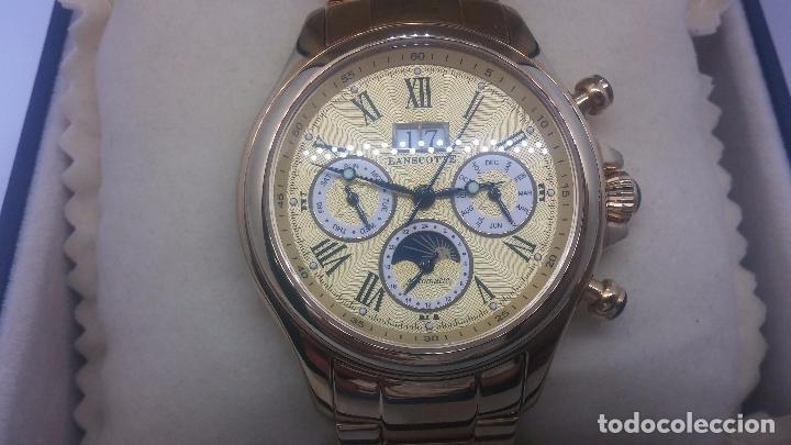 Relojes automáticos: Reloj automatico de caballero Astronomy de Lancoste, seminuevo, dos puestas - Foto 80 - 101950579