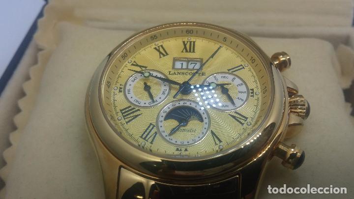 Relojes automáticos: Reloj automatico de caballero Astronomy de Lancoste, seminuevo, dos puestas - Foto 81 - 101950579