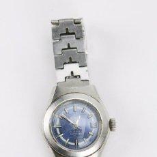 Relojes automáticos: RELOJ DE PULSERA AUTOMÁTICO PARA MUJER - POTENS. 21 JEWELS AUTOMATIC - ESFERA AZUL - AÑOS 70. Lote 102332163