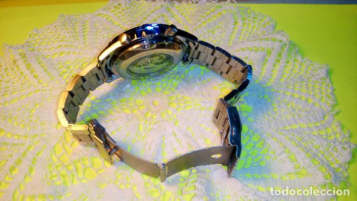 Relojes automáticos: RELOJ WINNER. AUTOMATICO. VARIAS FUNCIONES. 46 MM. SIN SEÑALES USO. IMPECABLE. FUNCIONANDO. - Foto 4 - 102334147