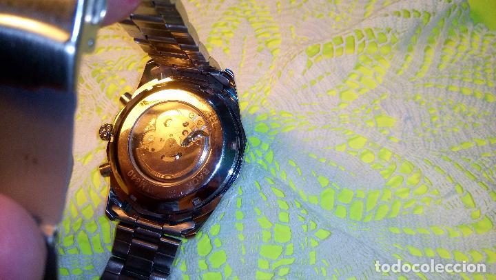Relojes automáticos: RELOJ WINNER. AUTOMATICO. VARIAS FUNCIONES. 46 MM. SIN SEÑALES USO. IMPECABLE. FUNCIONANDO. - Foto 5 - 102334147