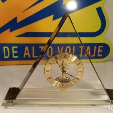 Relojes automáticos: RELOJ DE CUARZO S. HALLER WEST GERMANY CAJA METACRILATO TRIANGULAR AÑOS 80. Lote 104519015
