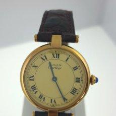 Relojes automáticos: CARTIER-PLAQUÈ ORO 18KTS-UNISEX.¡¡COMO NUEVO!!. Lote 40639095