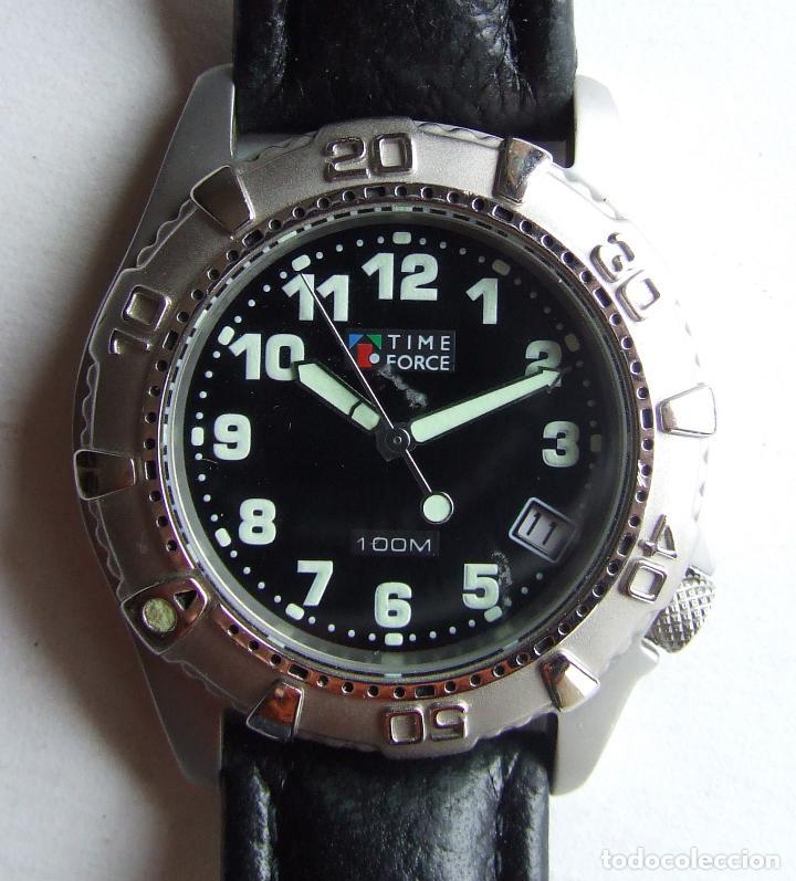 Relojes automáticos: RELOJ DE PULSERA TIME FORCE 100 M CON CALENDARIO - Foto 2 - 105821947