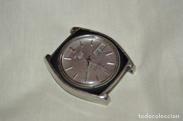 ANTIGUO - VINTAGE - RELOJ DE PULSERA - SEIKO 5 AUTOMATIC - RARO - 21 JEWELS - 7019 7390 - HAZ OFERTA (Relojes - Relojes Automáticos)
