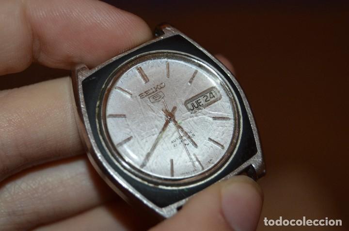 Relojes automáticos: ANTIGUO - VINTAGE - RELOJ DE PULSERA - SEIKO 5 AUTOMATIC - RARO - 21 JEWELS - 7019 7390 - HAZ OFERTA - Foto 2 - 106014623