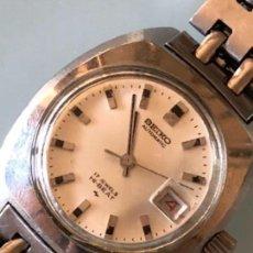 Relojes automáticos: RELOJ MUJER SEIKO AUTOMÁTICO SEGUNDERO Y DIETARIO CAJA Y ARMIS ACERO AÑOS 70. Lote 106579635