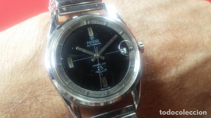 Relojes automáticos: Reloj automático de caballero Potens, calibre AS-1902/03, de 25 rubís, muy cuidado, años 60-70 - Foto 24 - 108347619