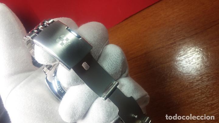Relojes automáticos: Reloj automático VINCE CAMUTO Skeleton de caballero, preciosa esfera azul marino, de reestreno. - Foto 11 - 108882983