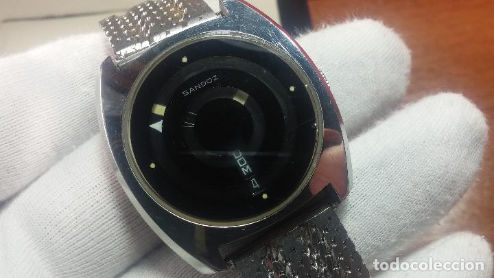 Relojes automáticos: RARO y EXCLUSIVO RELOJ SANDOZ MISTERIO, AUTOMATICO DE 25 JEWELS del año 1972 - Foto 34 - 109487903