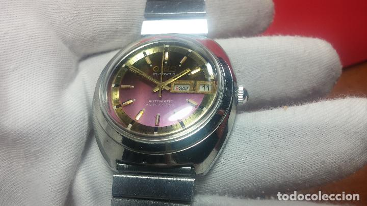Relojes automáticos: Reloj de caballero automático ORIS del año 1975, del escaso calibre 648, un bellezón de reloj. - Foto 30 - 110062231