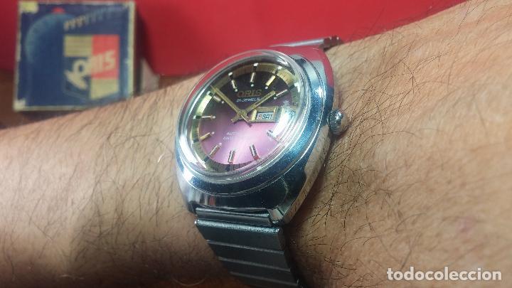 Relojes automáticos: Reloj de caballero automático ORIS del año 1975, del escaso calibre 648, un bellezón de reloj. - Foto 35 - 110062231