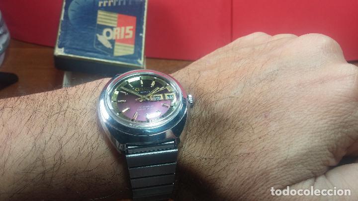 Relojes automáticos: Reloj de caballero automático ORIS del año 1975, del escaso calibre 648, un bellezón de reloj. - Foto 38 - 110062231