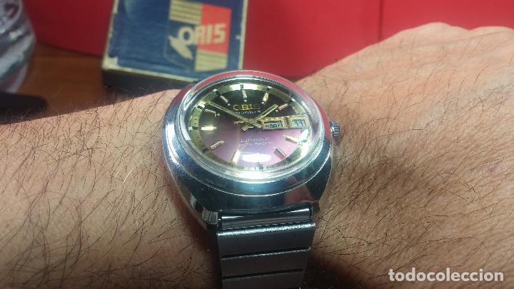 Relojes automáticos: Reloj de caballero automático ORIS del año 1975, del escaso calibre 648, un bellezón de reloj. - Foto 39 - 110062231