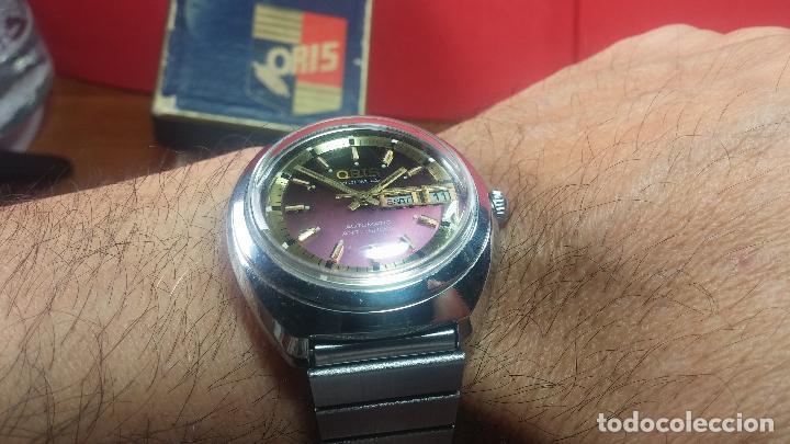 Relojes automáticos: Reloj de caballero automático ORIS del año 1975, del escaso calibre 648, un bellezón de reloj. - Foto 40 - 110062231