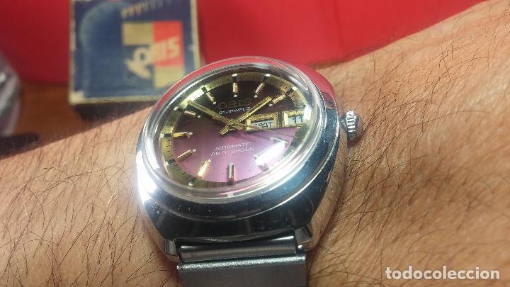 Relojes automáticos: Reloj de caballero automático ORIS del año 1975, del escaso calibre 648, un bellezón de reloj. - Foto 41 - 110062231