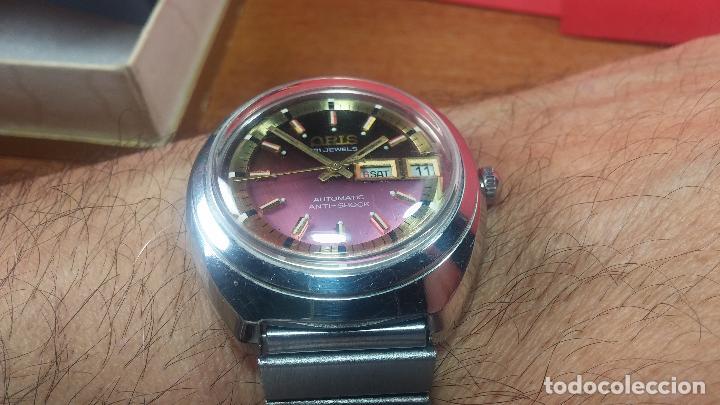 Relojes automáticos: Reloj de caballero automático ORIS del año 1975, del escaso calibre 648, un bellezón de reloj. - Foto 44 - 110062231