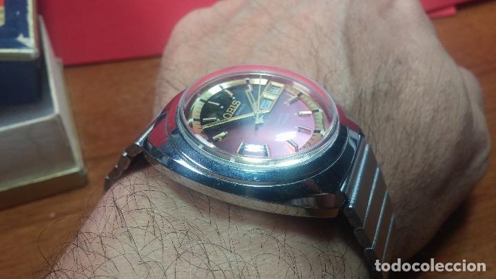 Relojes automáticos: Reloj de caballero automático ORIS del año 1975, del escaso calibre 648, un bellezón de reloj. - Foto 47 - 110062231