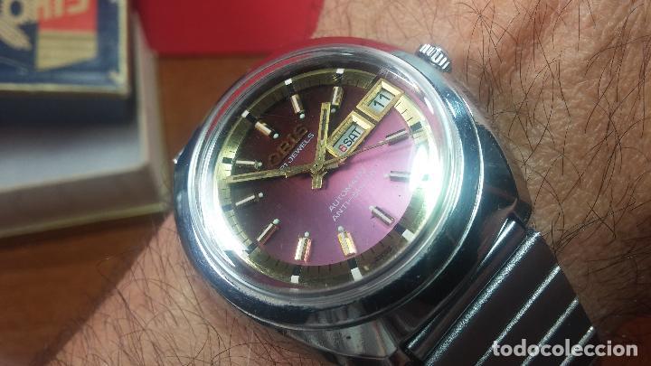 Relojes automáticos: Reloj de caballero automático ORIS del año 1975, del escaso calibre 648, un bellezón de reloj. - Foto 51 - 110062231