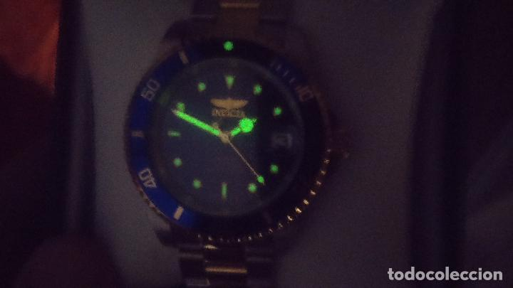 Relojes automáticos: Reloj automático de caballero Submarine INVICTA, esfera azul, como nuevo, muy bonito - Foto 5 - 111530419