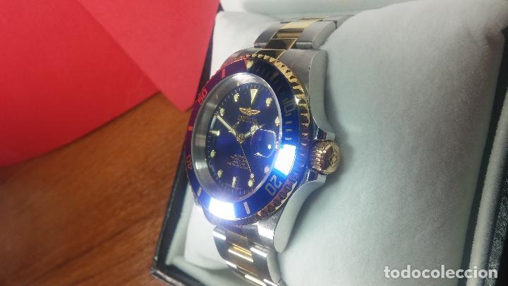 Relojes automáticos: Reloj automático de caballero Submarine INVICTA, esfera azul, como nuevo, muy bonito - Foto 9 - 111530419