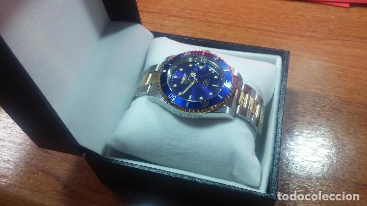 Relojes automáticos: Reloj automático de caballero Submarine INVICTA, esfera azul, como nuevo, muy bonito - Foto 13 - 111530419