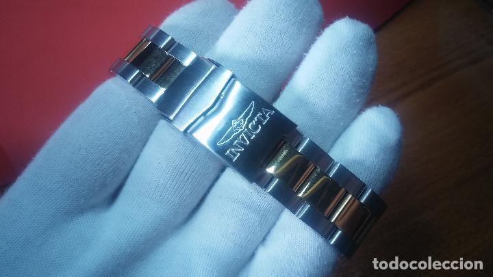 Relojes automáticos: Reloj automático de caballero Submarine INVICTA, esfera azul, como nuevo, muy bonito - Foto 14 - 111530419