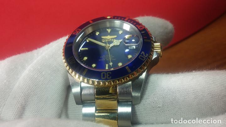 Relojes automáticos: Reloj automático de caballero Submarine INVICTA, esfera azul, como nuevo, muy bonito - Foto 27 - 111530419