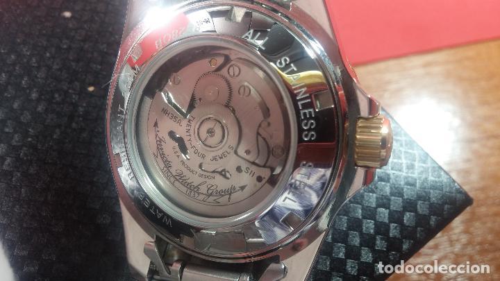 Relojes automáticos: Reloj automático de caballero Submarine INVICTA, esfera azul, como nuevo, muy bonito - Foto 31 - 111530419