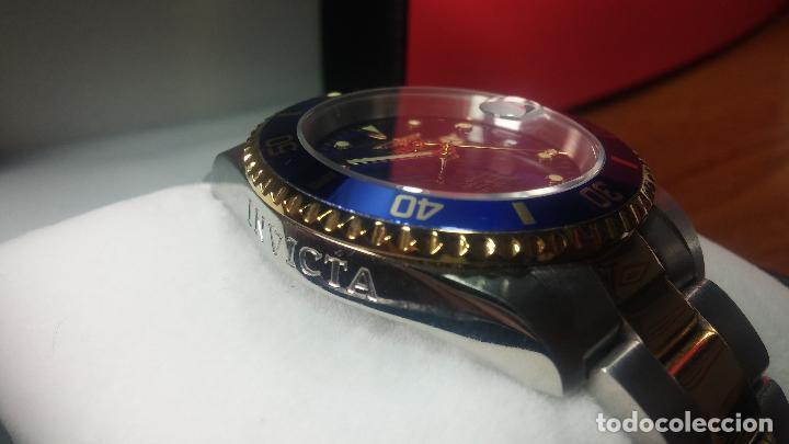 Relojes automáticos: Reloj automático de caballero Submarine INVICTA, esfera azul, como nuevo, muy bonito - Foto 42 - 111530419