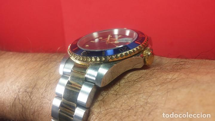 Relojes automáticos: Reloj automático de caballero Submarine INVICTA, esfera azul, como nuevo, muy bonito - Foto 45 - 111530419