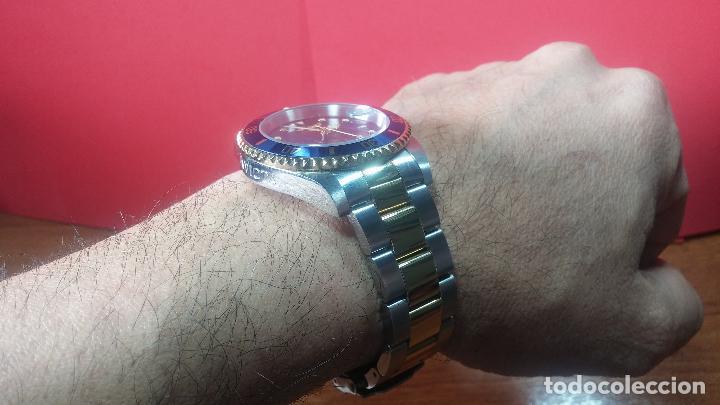 Relojes automáticos: Reloj automático de caballero Submarine INVICTA, esfera azul, como nuevo, muy bonito - Foto 46 - 111530419