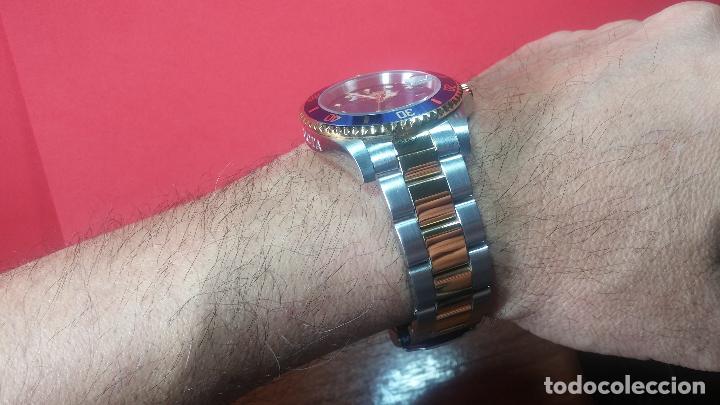 Relojes automáticos: Reloj automático de caballero Submarine INVICTA, esfera azul, como nuevo, muy bonito - Foto 47 - 111530419