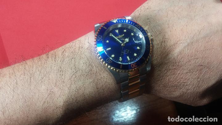 Relojes automáticos: Reloj automático de caballero Submarine INVICTA, esfera azul, como nuevo, muy bonito - Foto 48 - 111530419