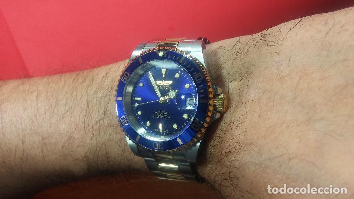 Relojes automáticos: Reloj automático de caballero Submarine INVICTA, esfera azul, como nuevo, muy bonito - Foto 52 - 111530419