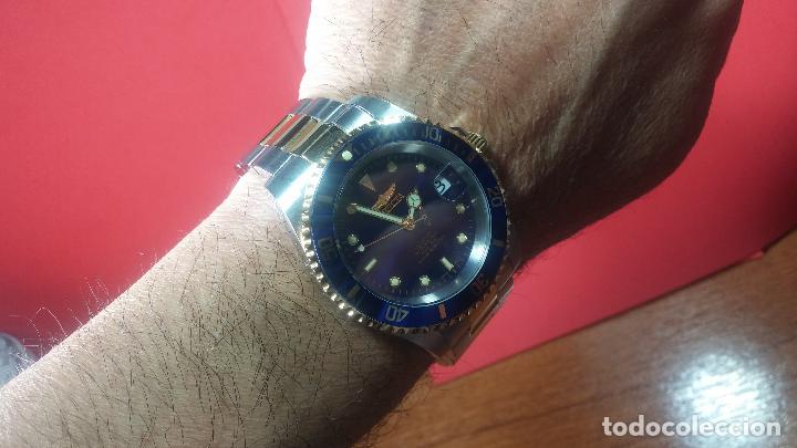 Relojes automáticos: Reloj automático de caballero Submarine INVICTA, esfera azul, como nuevo, muy bonito - Foto 53 - 111530419