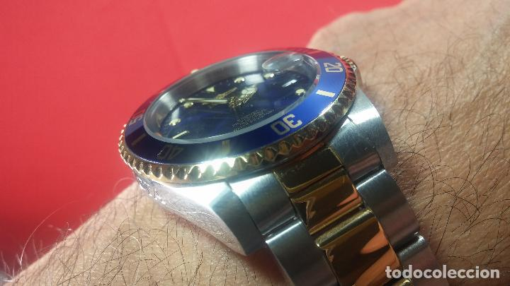 Relojes automáticos: Reloj automático de caballero Submarine INVICTA, esfera azul, como nuevo, muy bonito - Foto 55 - 111530419