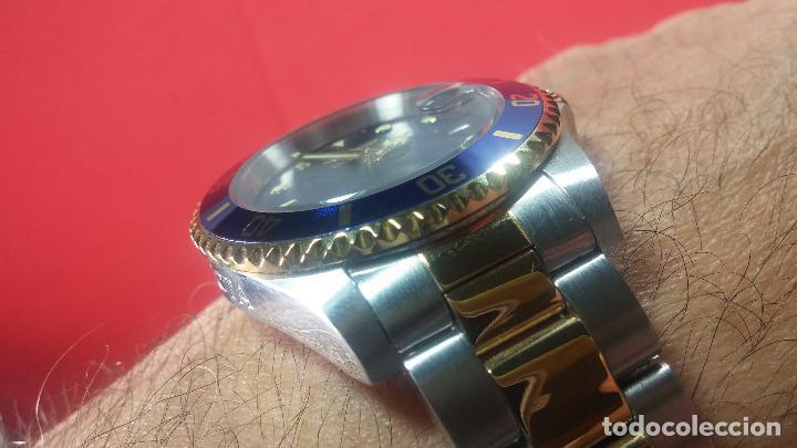 Relojes automáticos: Reloj automático de caballero Submarine INVICTA, esfera azul, como nuevo, muy bonito - Foto 56 - 111530419